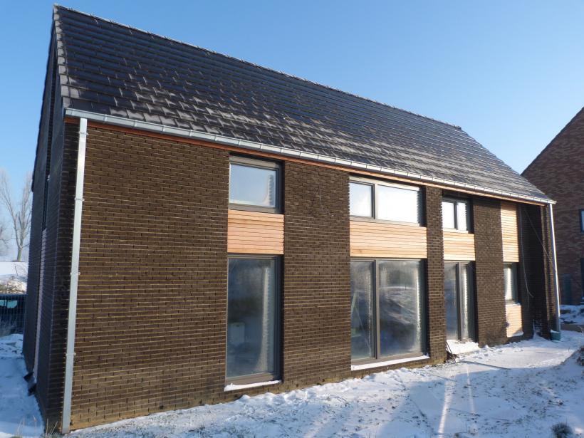 Construction d 39 une maison tr s basse nergie en ossature for Maison tres basse consommation