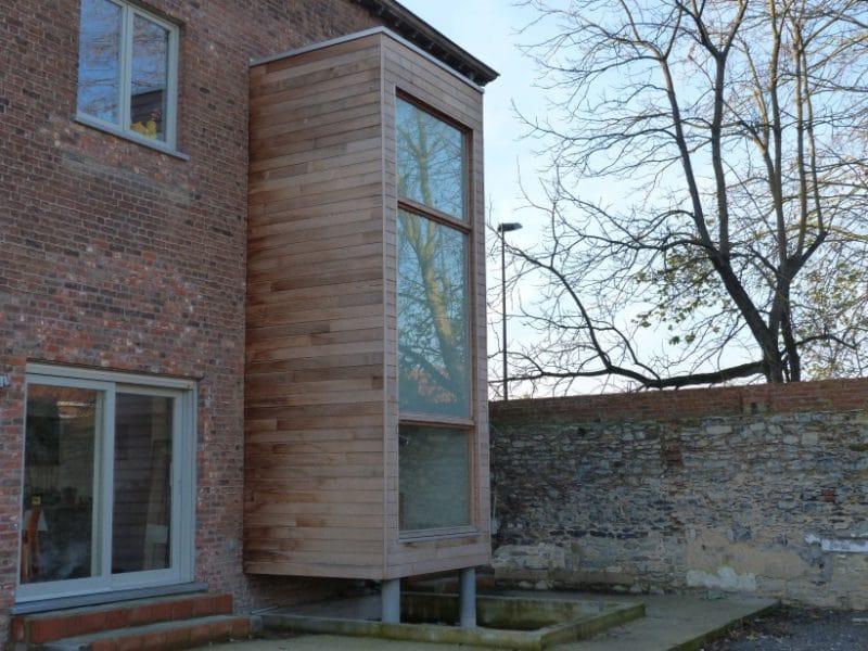 extension en ossature bois basse nergie cage d 39 escalier vaulx meunier fr res. Black Bedroom Furniture Sets. Home Design Ideas