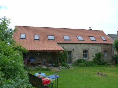 Rénovation d'une charpente, d'une toiture et d'une isolation