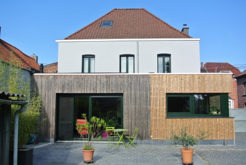 Extension en ossature bois